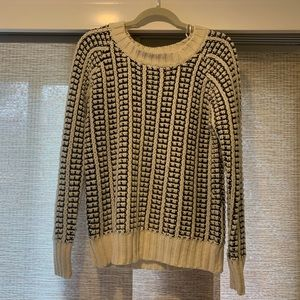 LA Made Black and Cream Chunky Knit Sweater